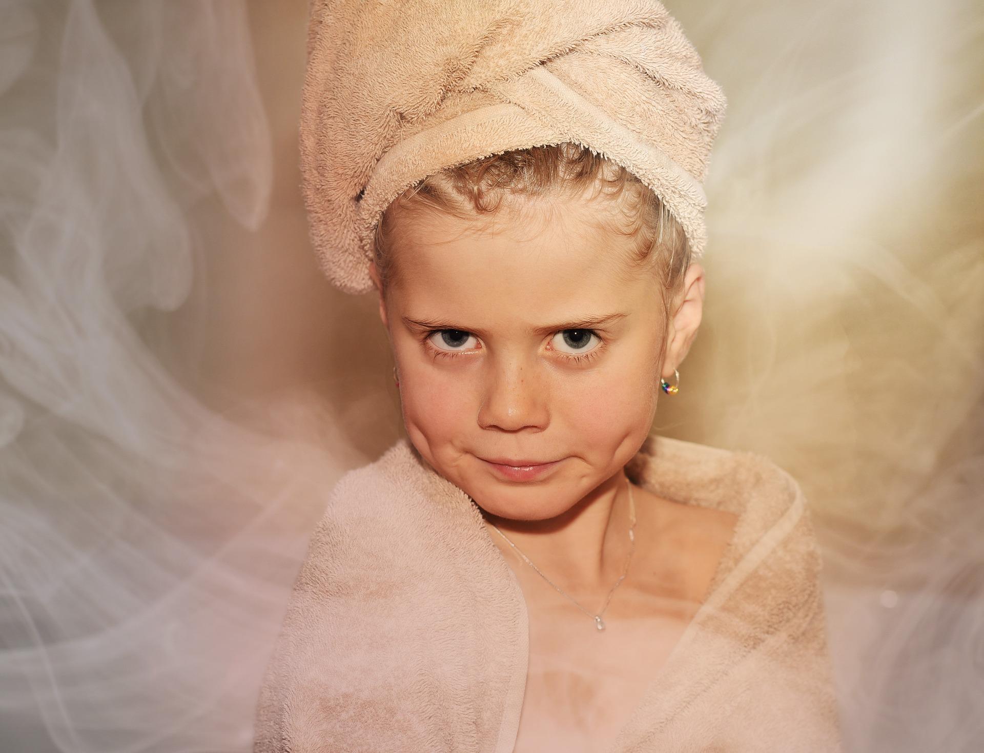 Dziecko w saunie